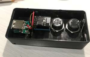 ESP inside box with buttons
